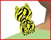 tiger neon yellow pet
