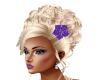 Hair Blond Purple Flower