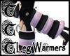 TTT Leg Warmers ~Blk/Pnk