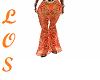 Orange Yellow Sheer Pant