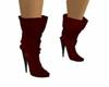 Dark Red Boots