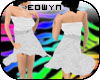 *E* Casual white dresss