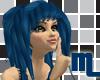 {.M.} Blue Emo Hair