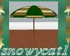 SC Green Beach Umbrella