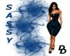 (DD) Sassy dress blue