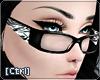 |C| Glasses Zebra White