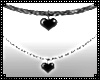 Heart Necklace - Black
