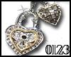 *0123* Silver Heart Key