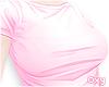 ♡ pink tee