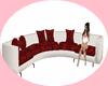 sofa blanco y rojo