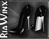 Wx:Black Leather Heels