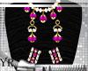 Lace Pink Jewelry set