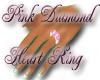 *BG* Pink Dia heart Ring