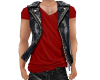 NV Leather Vest w/Red