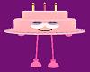 Pink Avatar Cake