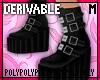 Goth Ankle Boots .m [dv]