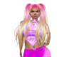 cute pink blond pigtail
