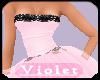 (V) pink /black formal