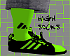 *CA* High Green Socks