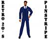 Retro 20's Blue Suit