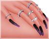 Purple Flames Nails