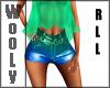 Duo neon mini shorts RLL