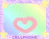 pink heart earrings ❤