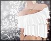 *S Summer FrillTop White