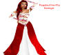 red flowered gown