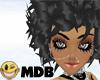 ~MDB~ BLACK BRIANNA HAIR