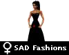 ! SAD black cinched gown