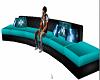[TZB] Teal Club Sofa