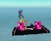 Pink And Black Raft