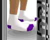 {DR} Small Sox Wht/Purp