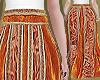 Orange Velvet Lace Skirt