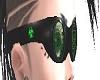 -X- green toxic goggles