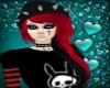 Cherry-Black Emo +Beanie