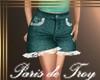 PdT Teal&Lace JeanShorts