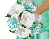 Trish teal wedding flow