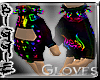 (Rainbow Spiked Gloves M