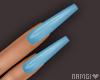 *N Pastel Blue Nails