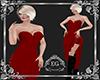 dress strass red long
