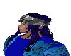 BlackBlue Hair w Bandana
