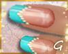 G- Aqua w Pearls Nails