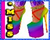 {*M} Rainbow Heels