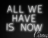 C` All we have is now