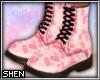 :S Martens - Pink Floral
