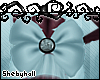 (S) Blue Tail Bow