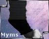 {M} Blk Ankle sox w/feet
