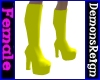 Platform Boots - Yellow